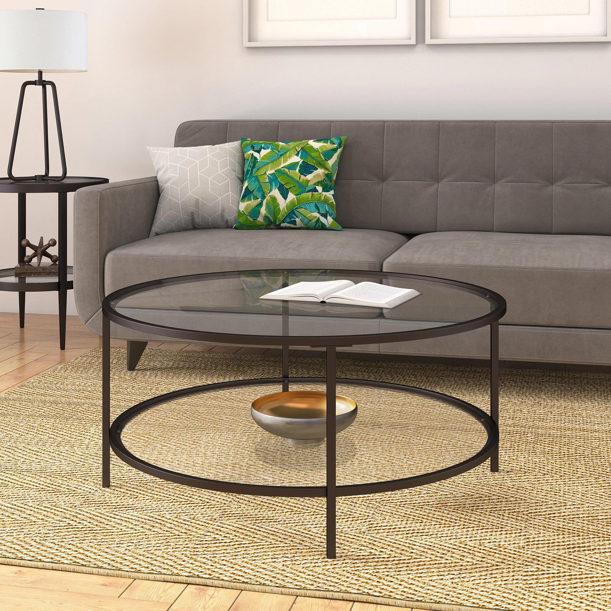 wayfair black round coffee tables you