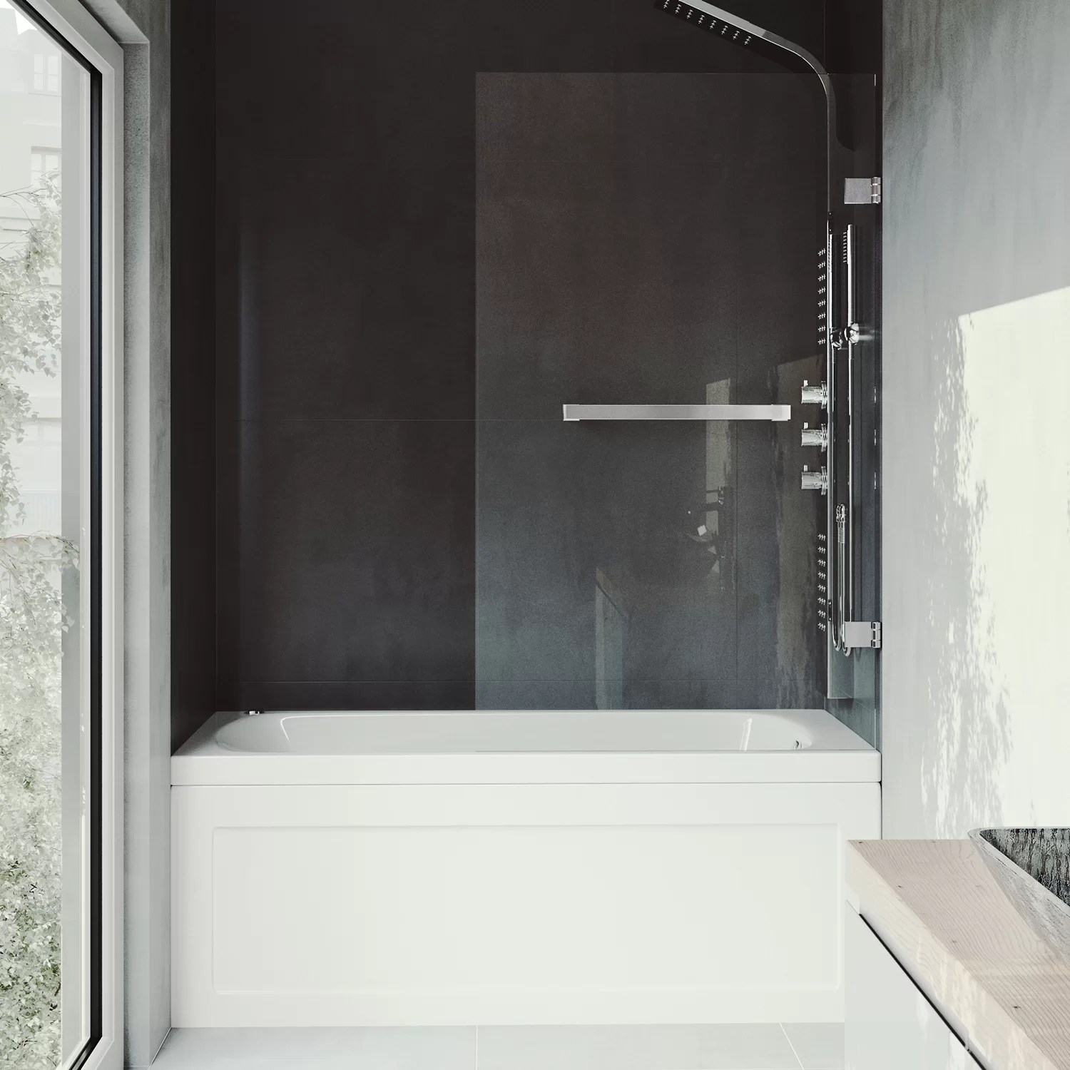 Rialto 34 X 58 Hinged Frameless Tub Door