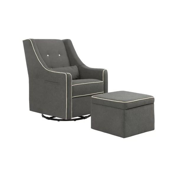 rocker glider chair rounded corner cushions nursery gliders rockers recliners wayfair