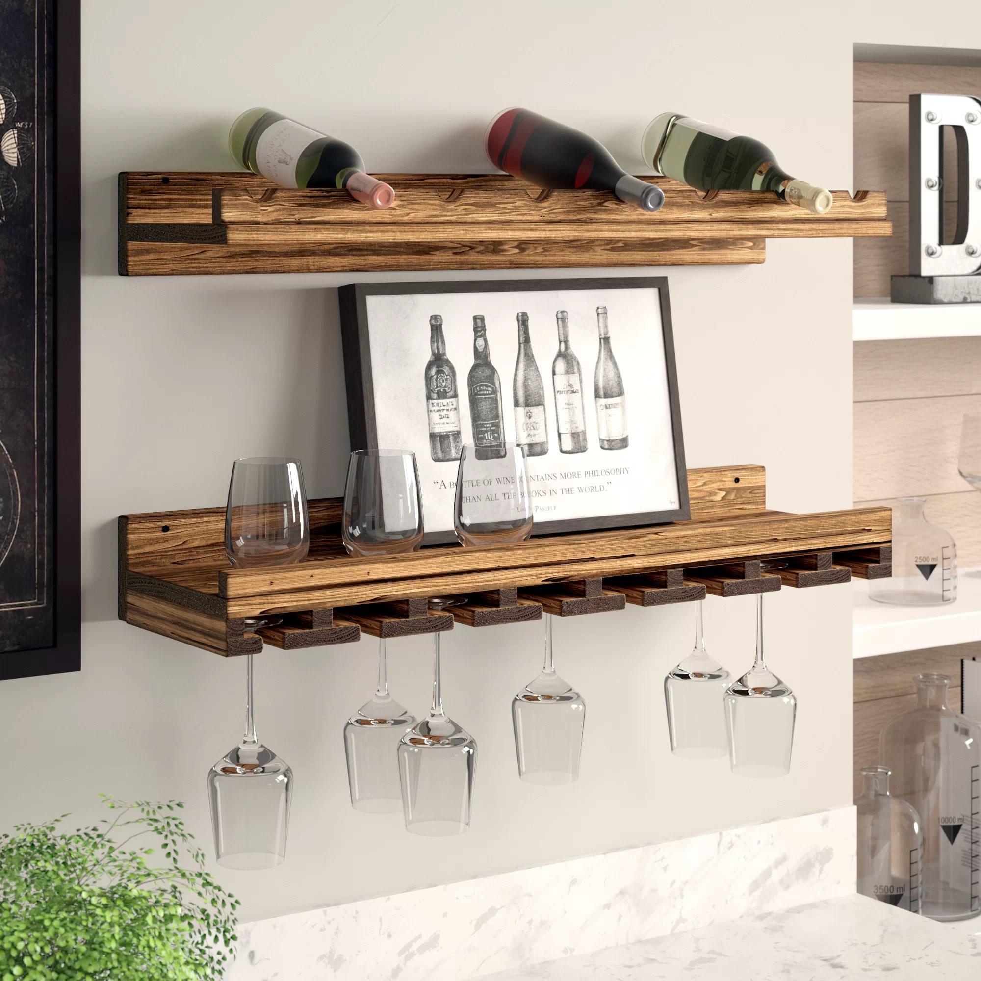 wall mounted wine racks you ll love in