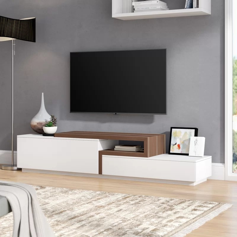 Allmodern Charleroi Tv Stand For Tvs Up To 85 Reviews Wayfair Ca