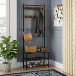 Williston Forge Parke Hall Tree With Shoe Storage Reviews Wayfair