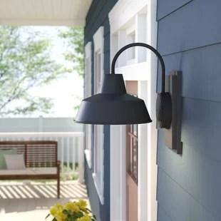 rickey matte antique black glass outdoor barn light