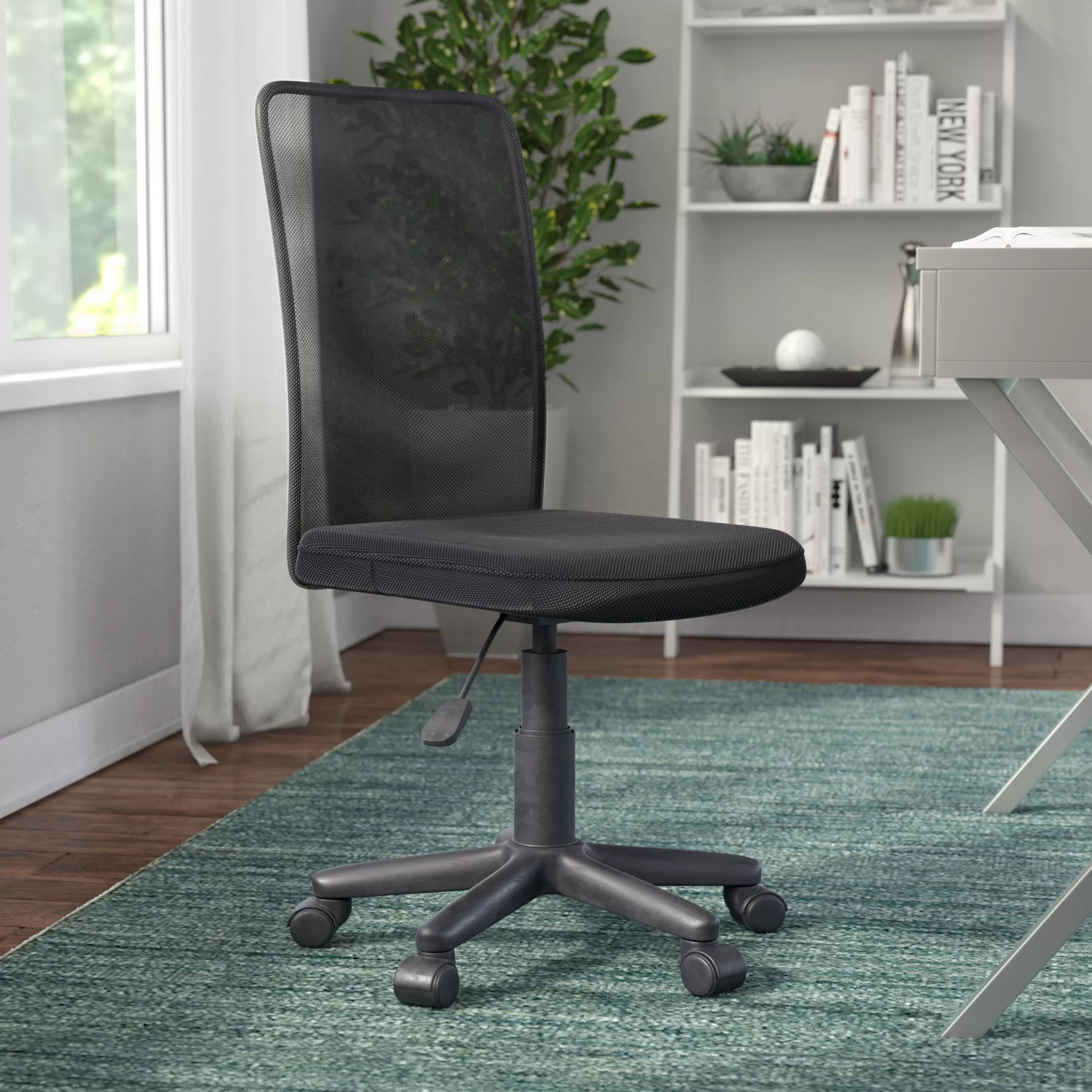 desk chair york ballard designs dining cushions ebern granada mesh medium back armless reviews wayfair