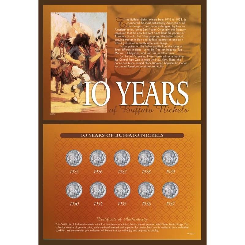 10 Years of Buffalo Nickels Memorabilia