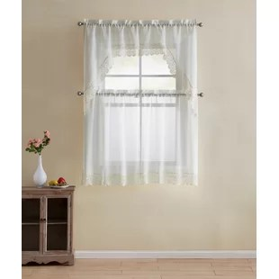 french lace kitchen curtains best floor cleaner wayfair quickview
