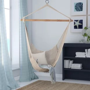 hammock chair with canopy home depot rail molding chairs swing you ll love wayfair crowell rope cotton