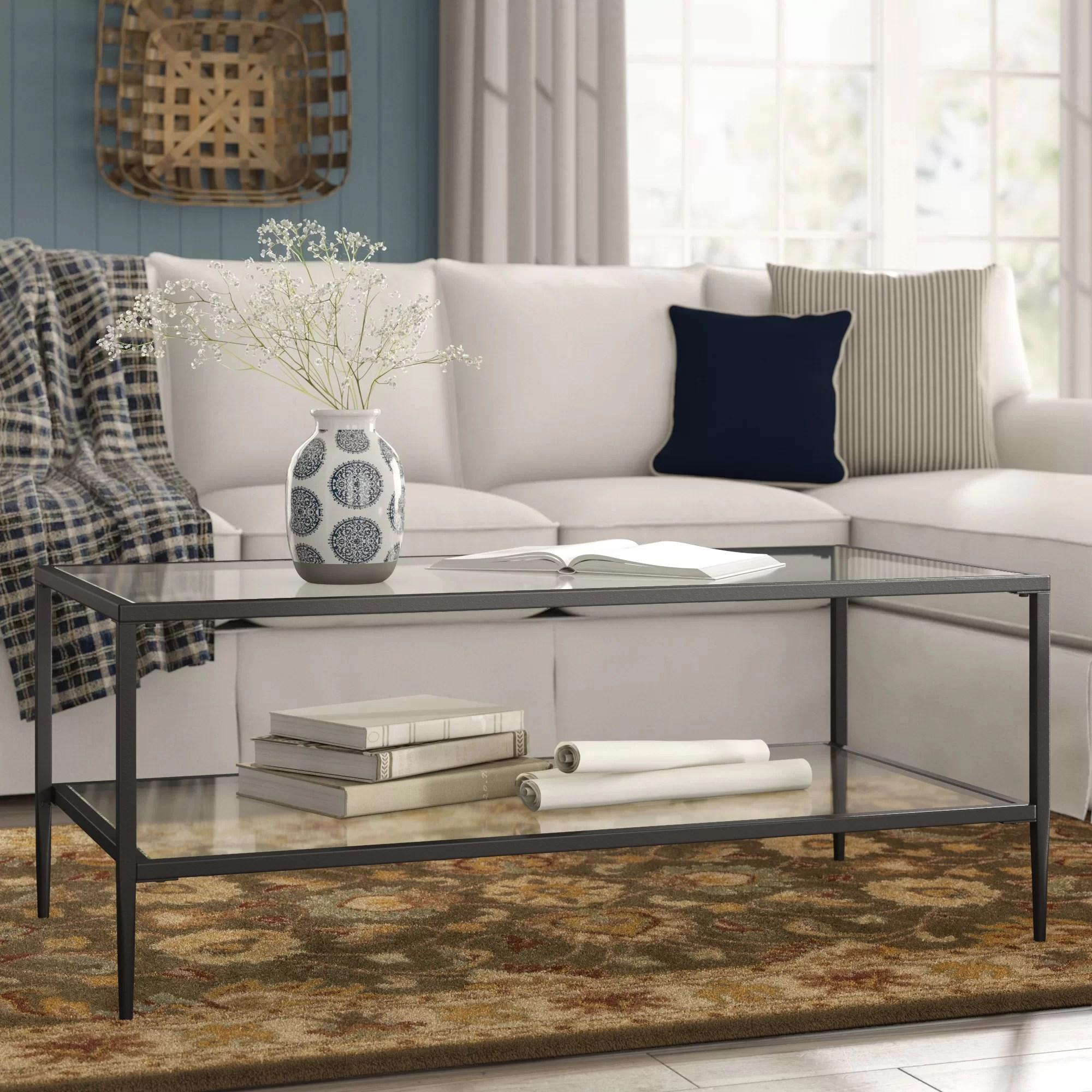 harlan double shelf coffee table
