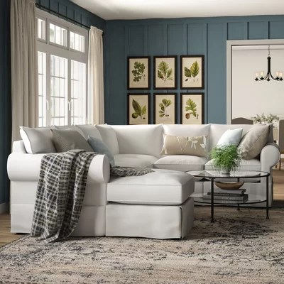 u shaped chair slipcovers small outside table and 2 chairs birch lane heritage jameson slipcovered sectional