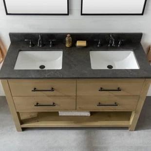 riley 54 double bathroom vanity set