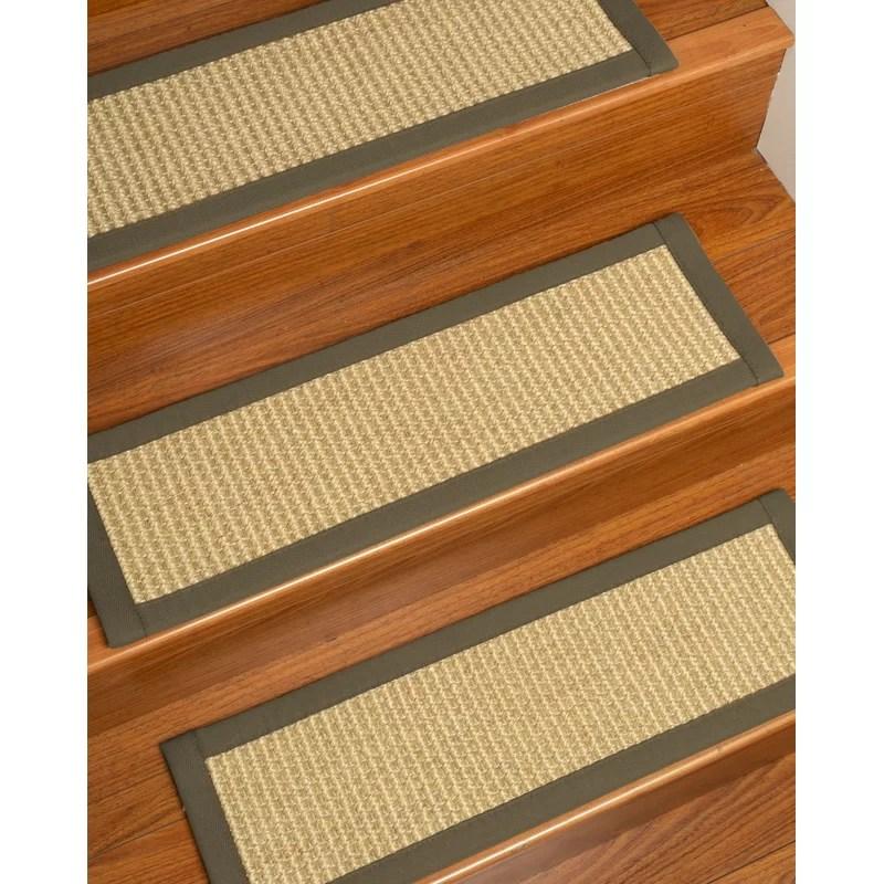 Highland Dunes Bulpitt Sisal Stair Tread Wayfair | Wayfair Carpet Stair Treads | Tucker Murphy | Carpet Runners | Oaks Godinez | Stair Railing | Beige Carpet