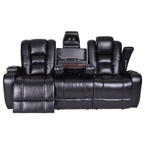 flexsteel double reclining sofa reviews kuka sectional leather electric sofas bad more galaxy ...