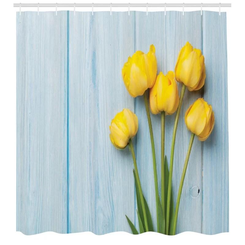 tulip shower curtain set hooks