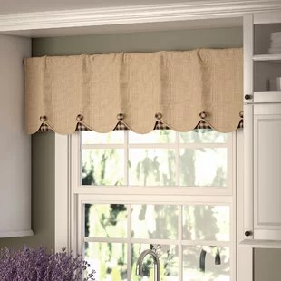kitchen window valance storage cabinets free standing valances cafe curtains you ll love wayfair quickview
