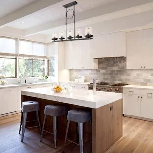 kitchen pendant lights white cabinets ideas you ll love wayfair ca dennis retro linear island lighting clear glass shade black finish