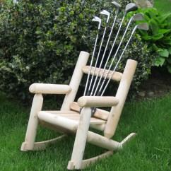 Log Style Adirondack Chairs Interior Swing Chair Ski Golf Children S Club Solid Wood Rocking Wayfair