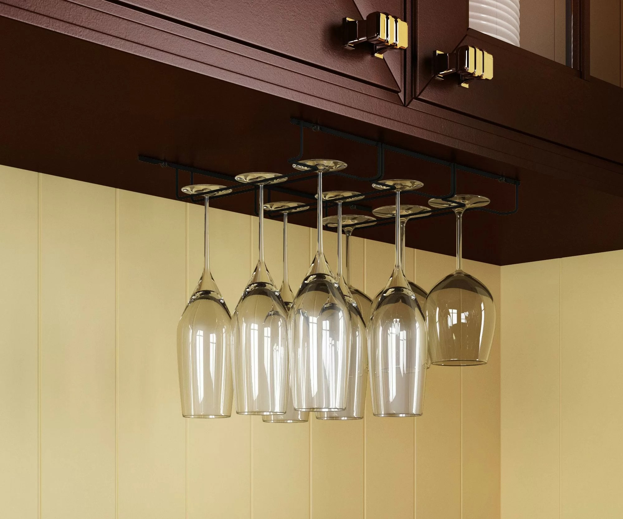 madisen hanging wine glass rack