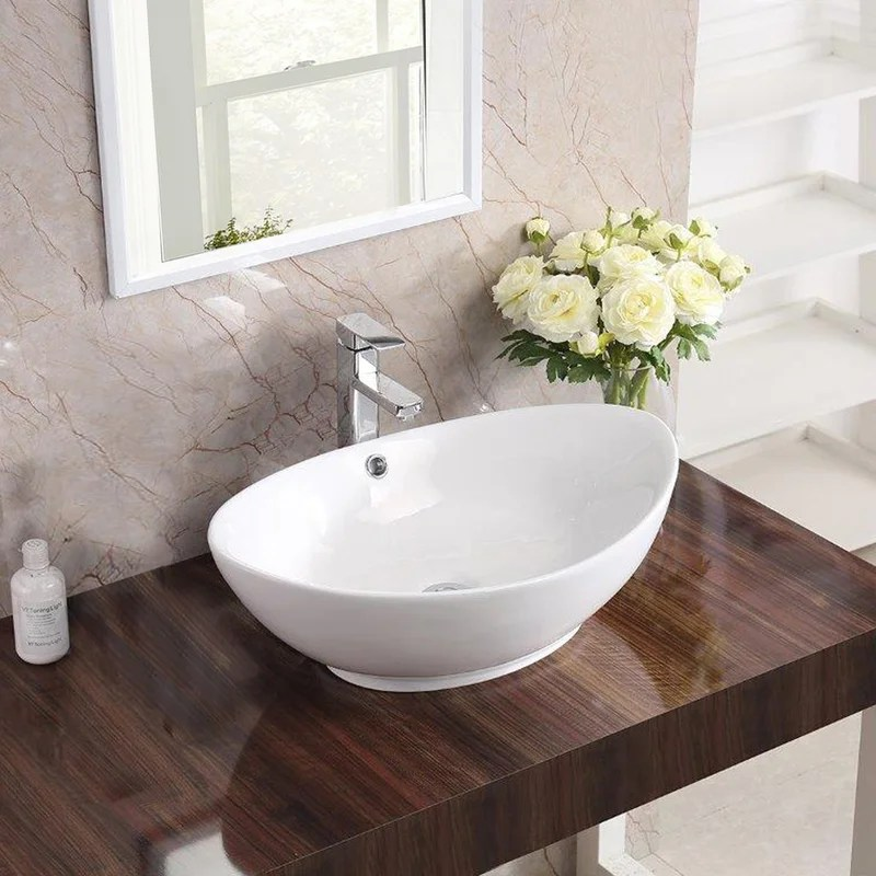 brant point ceramic specialty vessel bathroom sink with overflow