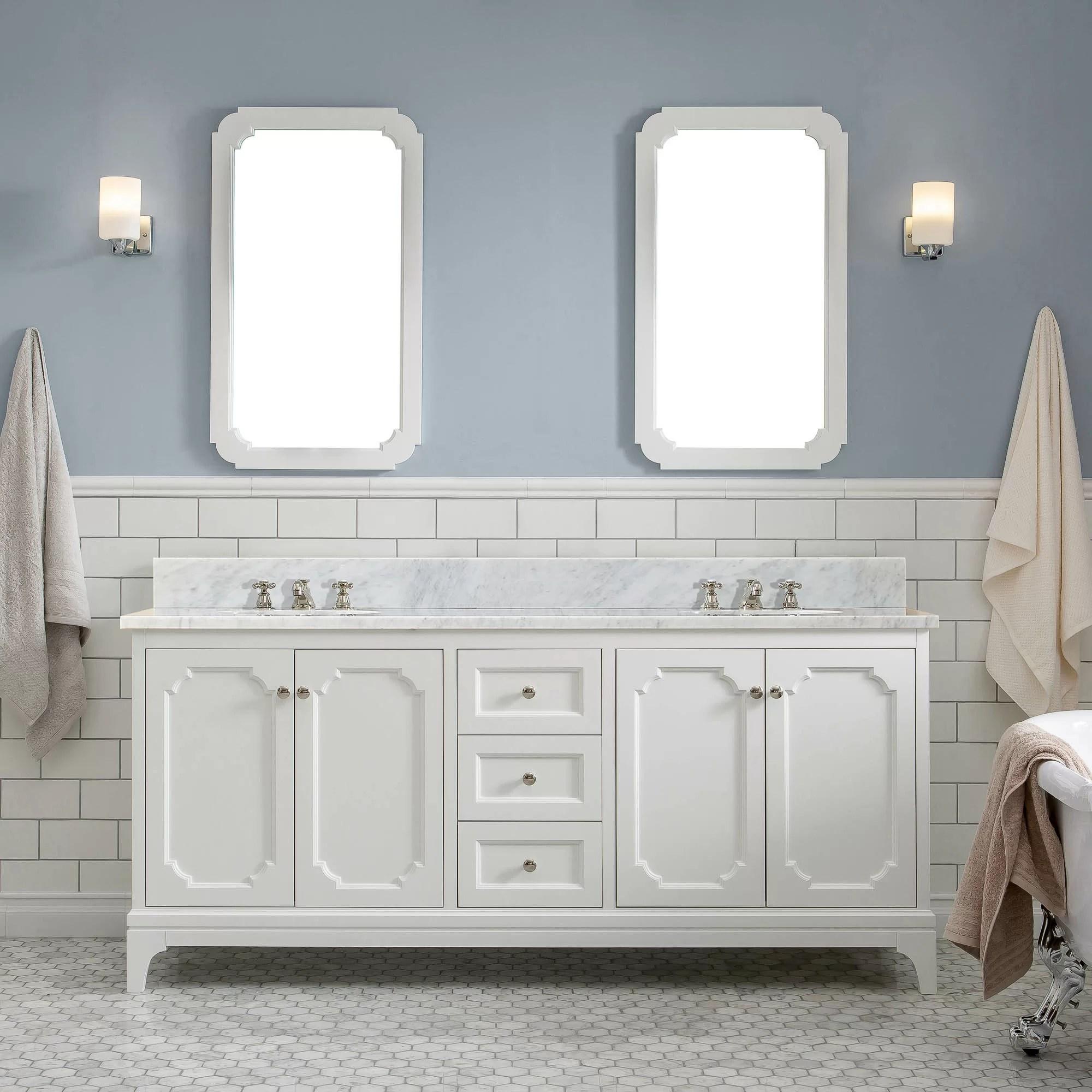 Water Creation Queen 72 Double Bathroom Vanity Set With Mirror Wayfair