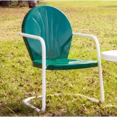 Retro Metal Yard Chairs Lime Green Bistro Patio Wayfair Quickview