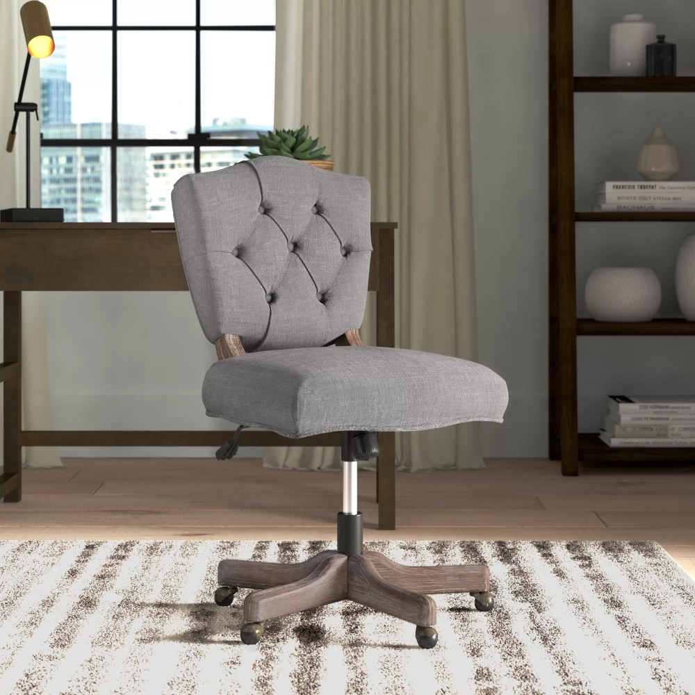 medium resolution of tufted office chair