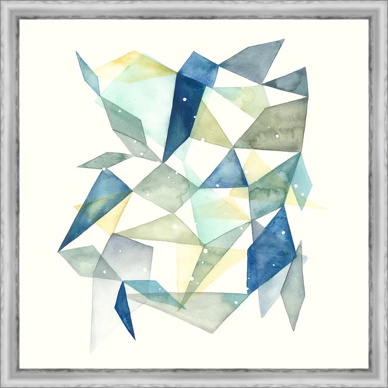 Trends Geometric Jewel Abstract I Framed Graphic Art