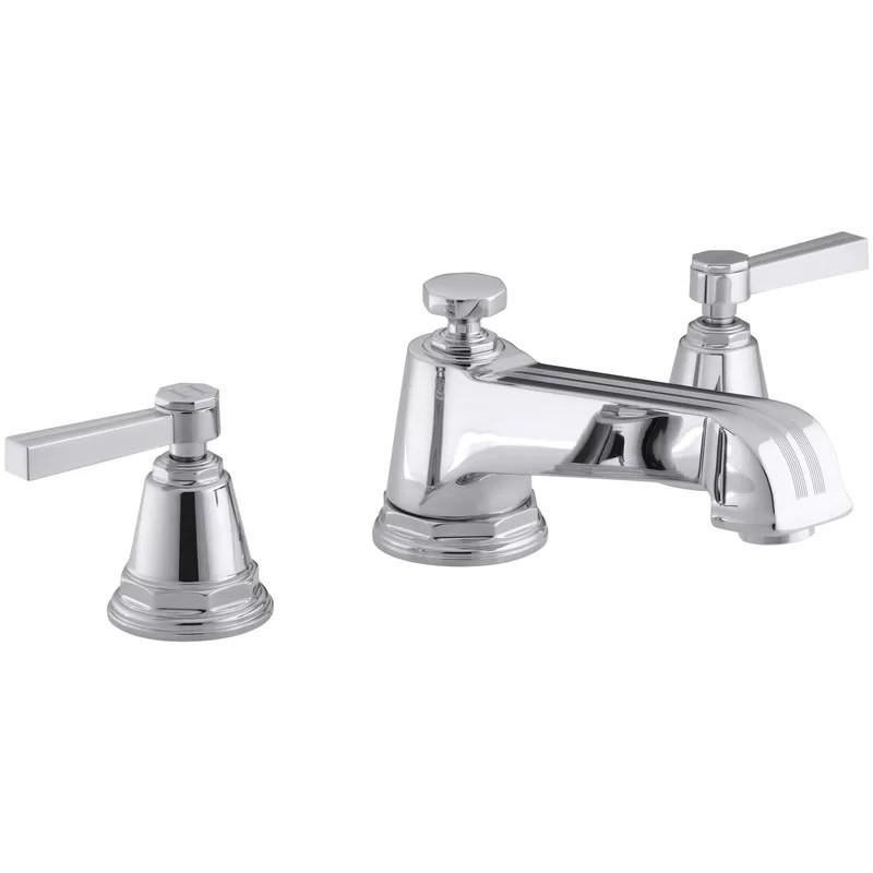 pinstripe widespread bathroom faucet