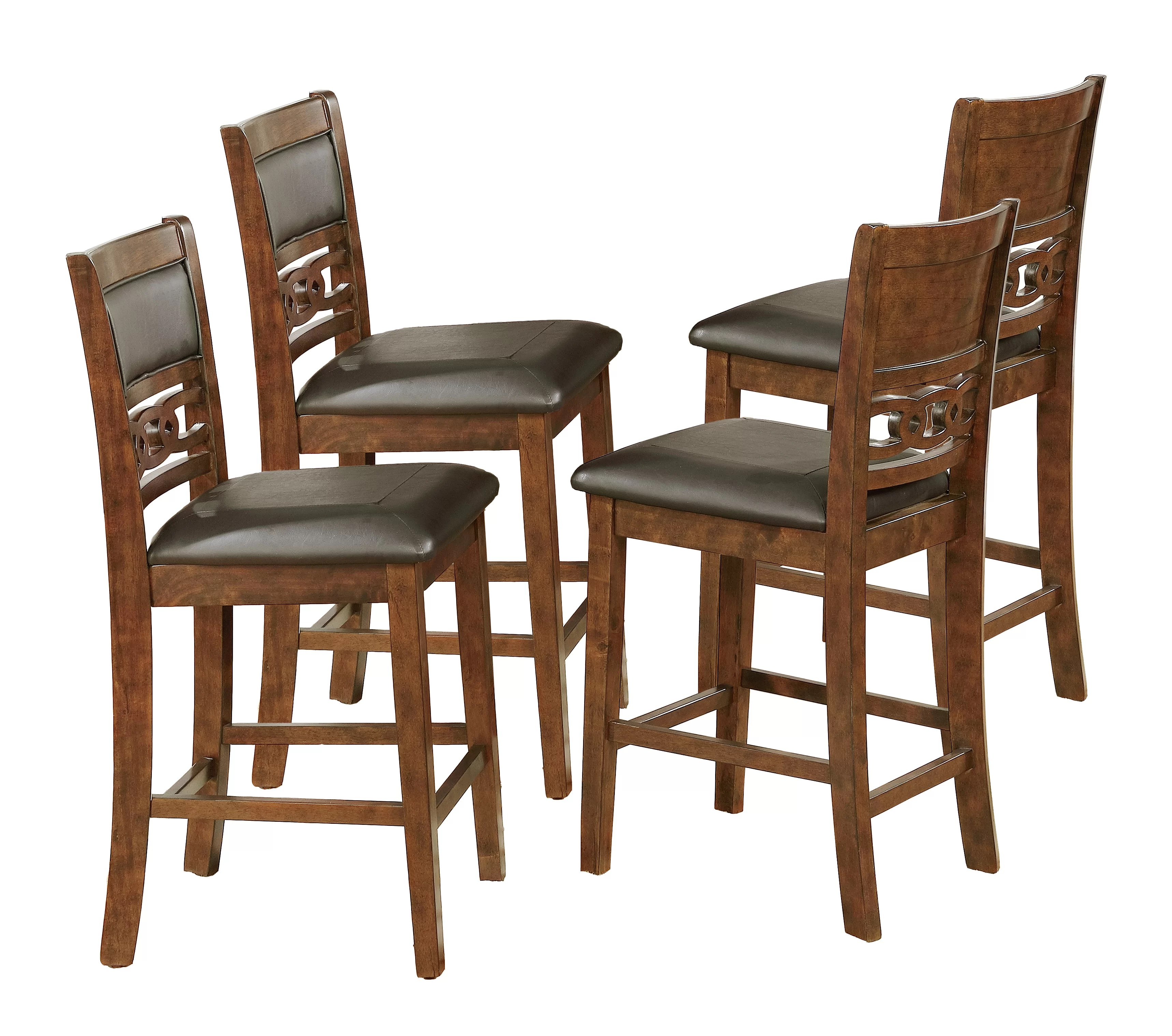 upholstered counter height chairs table chair covers weddings crown mark cally dining reviews wayfair
