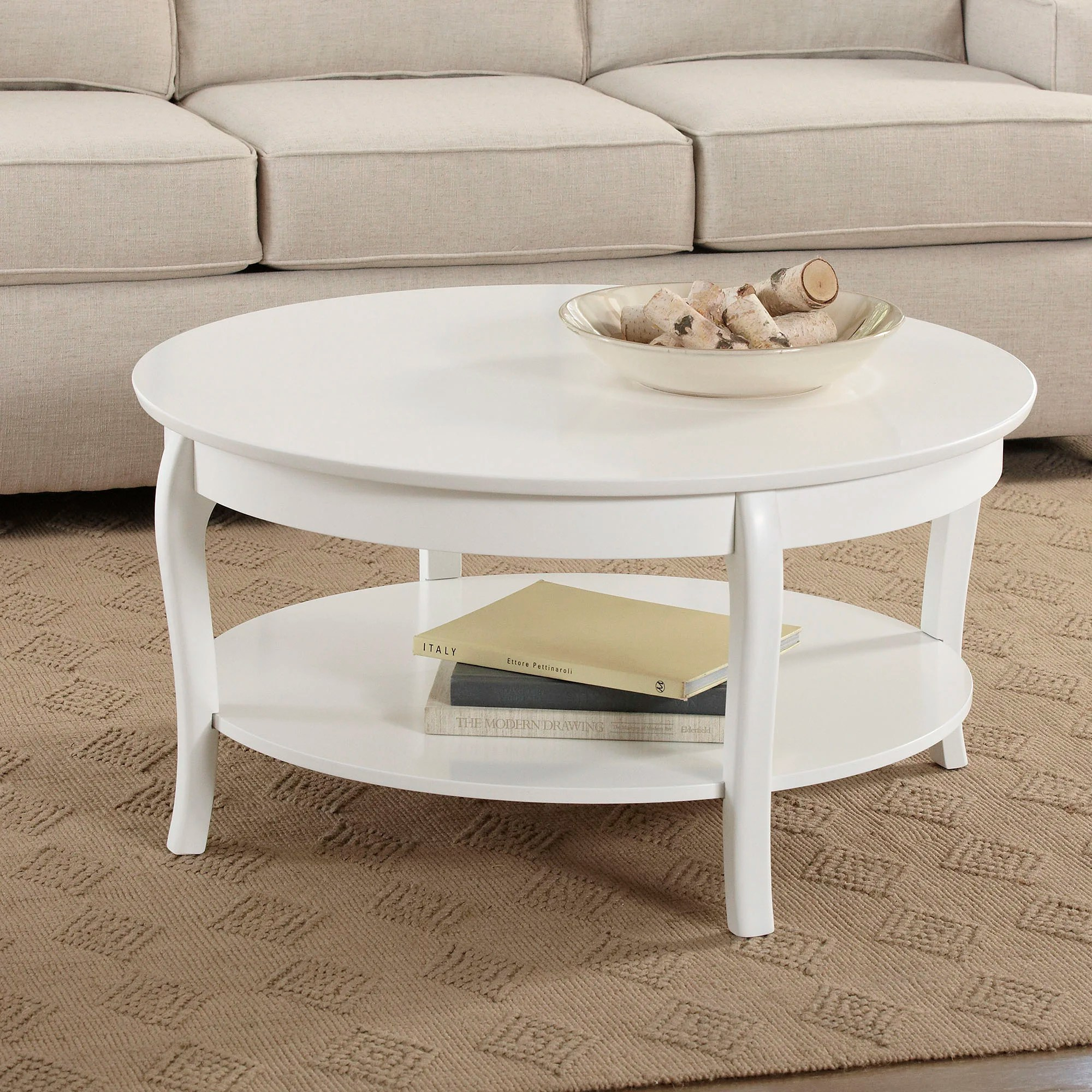 cottage country white coffee tables