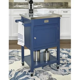 blue kitchen island cute rugs islands carts you ll love wayfair quickview