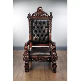 throne chair cover a in room king wayfair marybeth mahogany armchair