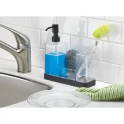 Soap Dispenser Kitchen Built In Islands Mounted Dispensers You Ll Love Wayfair Ca Jorgensen Pump Sponge Scrubby And Dish Brush Caddy Organizer