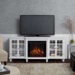 Real Flame Tv Stand For Tvs Up To 78 With Electric Fireplace Included Reviews