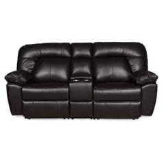 Black Reclining Sofa With Console Henredon Fireside Dual Recliner Wayfair Bolles