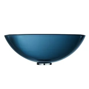 glass handmade circular vessel bathroom sink