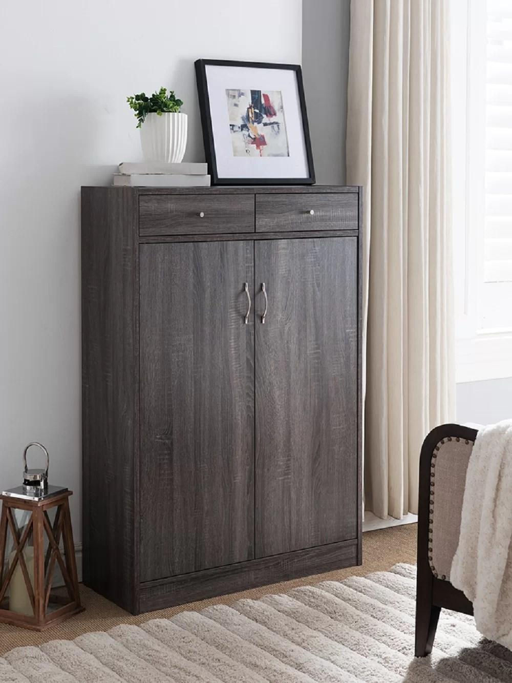 Wooden Entryway Shoe Storage Cabinet Reviews Joss Main