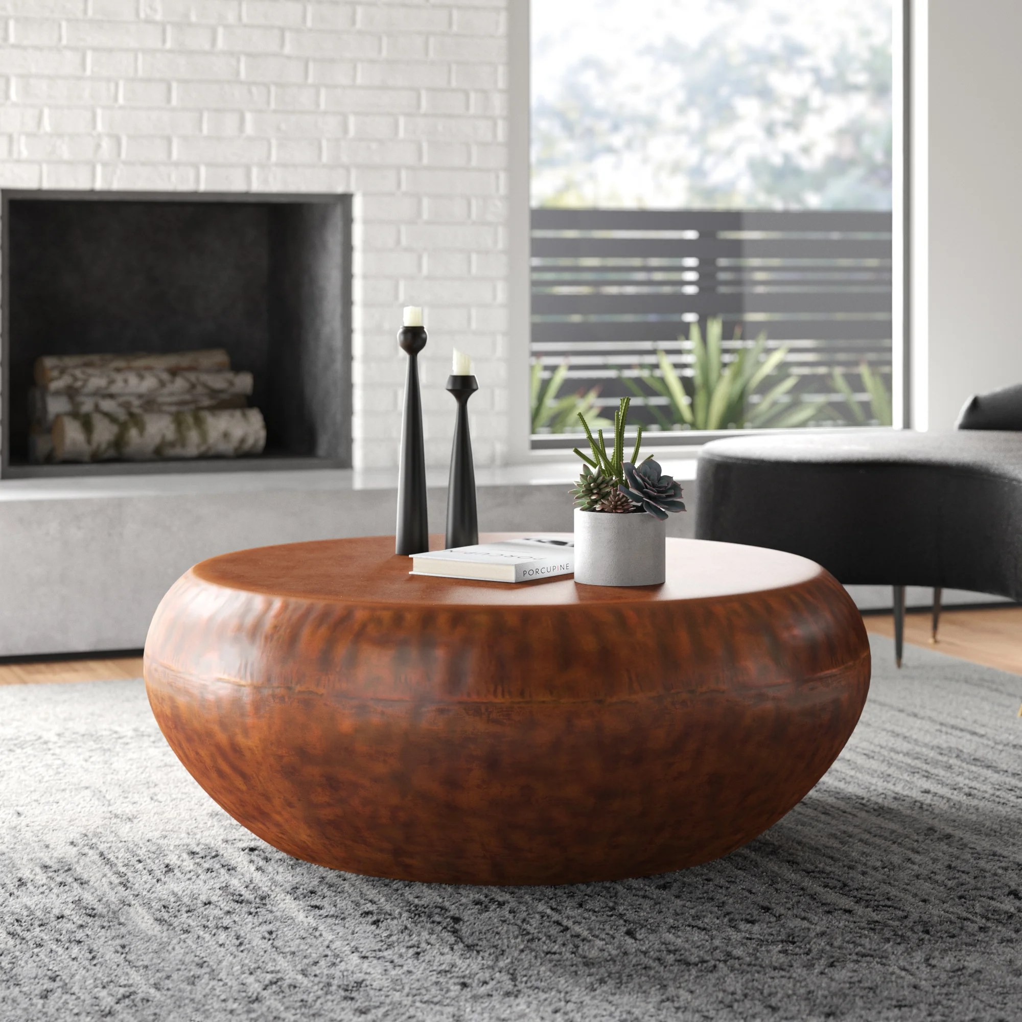 copper mid century modern coffee tables