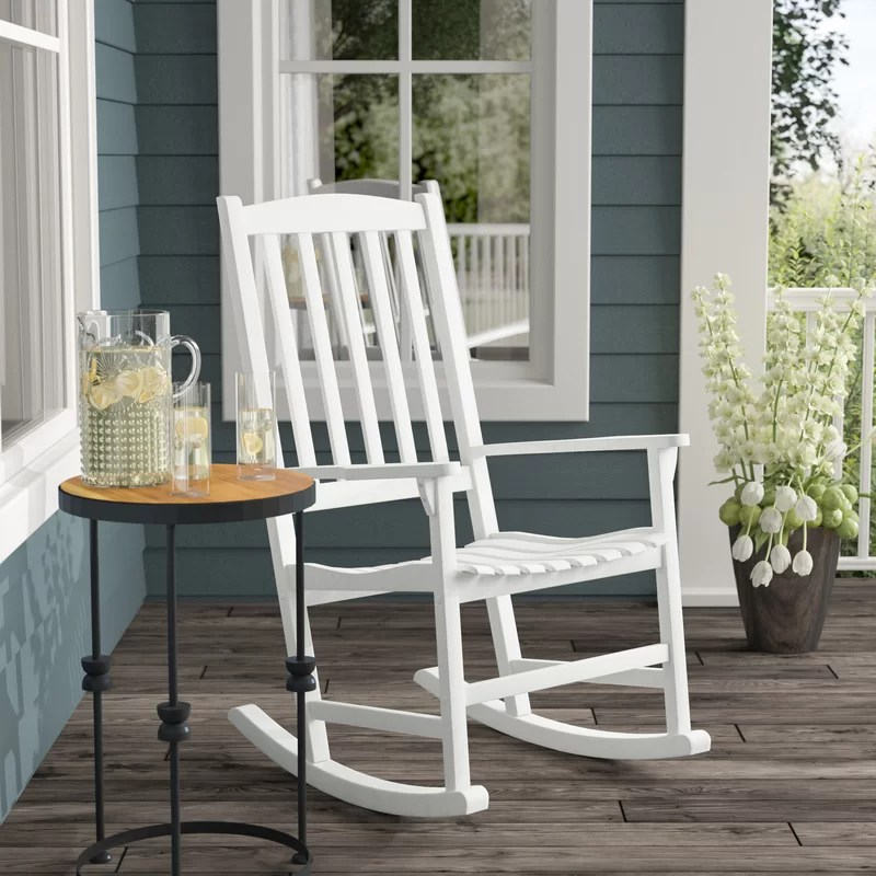 rocking chair white outdoor adirondack chairs plastic best 2018 11 beautiful options and reviews this modern is simple yet chic it in color has a slender structure look that makes easier for you to add