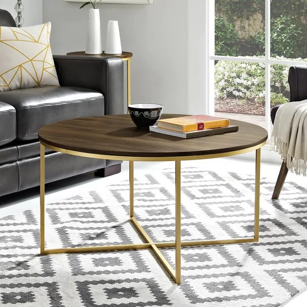 modern table for living room best color paint feng shui coffee tables you ll love wayfair