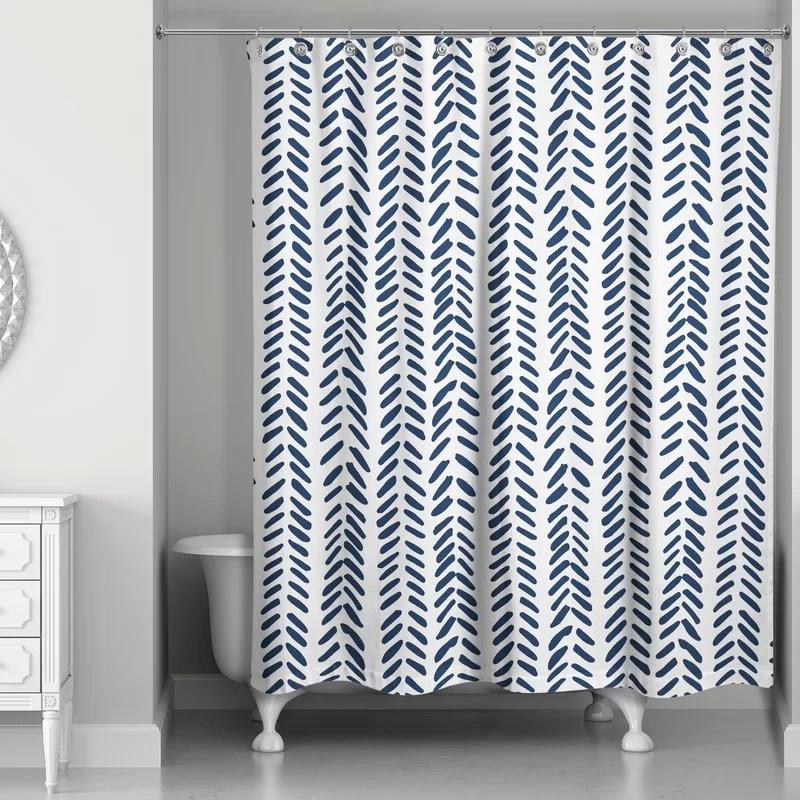 ferrao modern herringbone single shower curtain