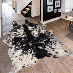 Animal Rugs For Living Room Pop Ceiling Designs In India Shaped Wayfair Alegre Faux Cow Shape Black White Indoor Area Rug