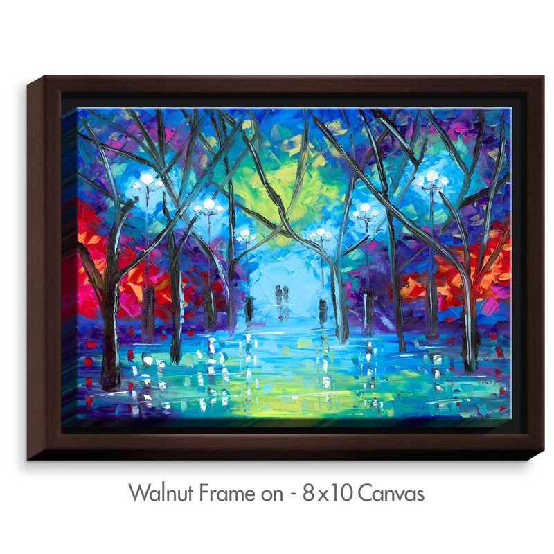 Ever After by Jessilyn Park Painting Print on Wrapped Framed Canvas Size: 12.75 H x 15.75 W x 1.75 D Frame Color: Walnut