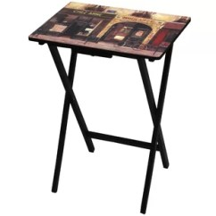 Parisian Cafe Table And Chairs Baby Sitting Chair India Wayfair Tv Tray By Oriental Furniture