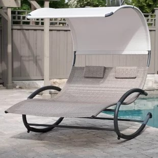double lounge chair outdoor world market office wayfair quickview