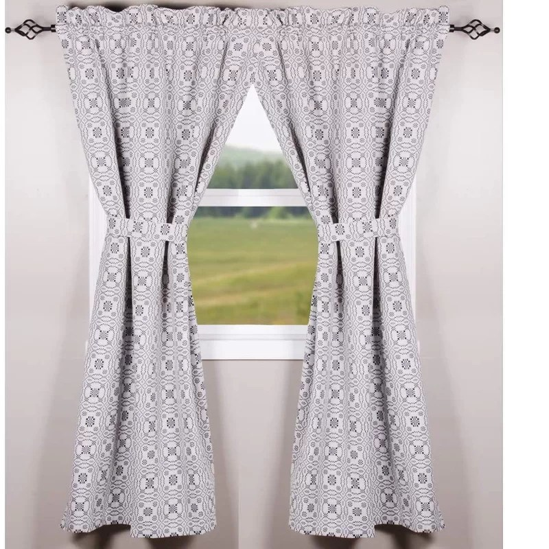 2 piece lovera s knot drapery 100 cotton solid color curtain panels set