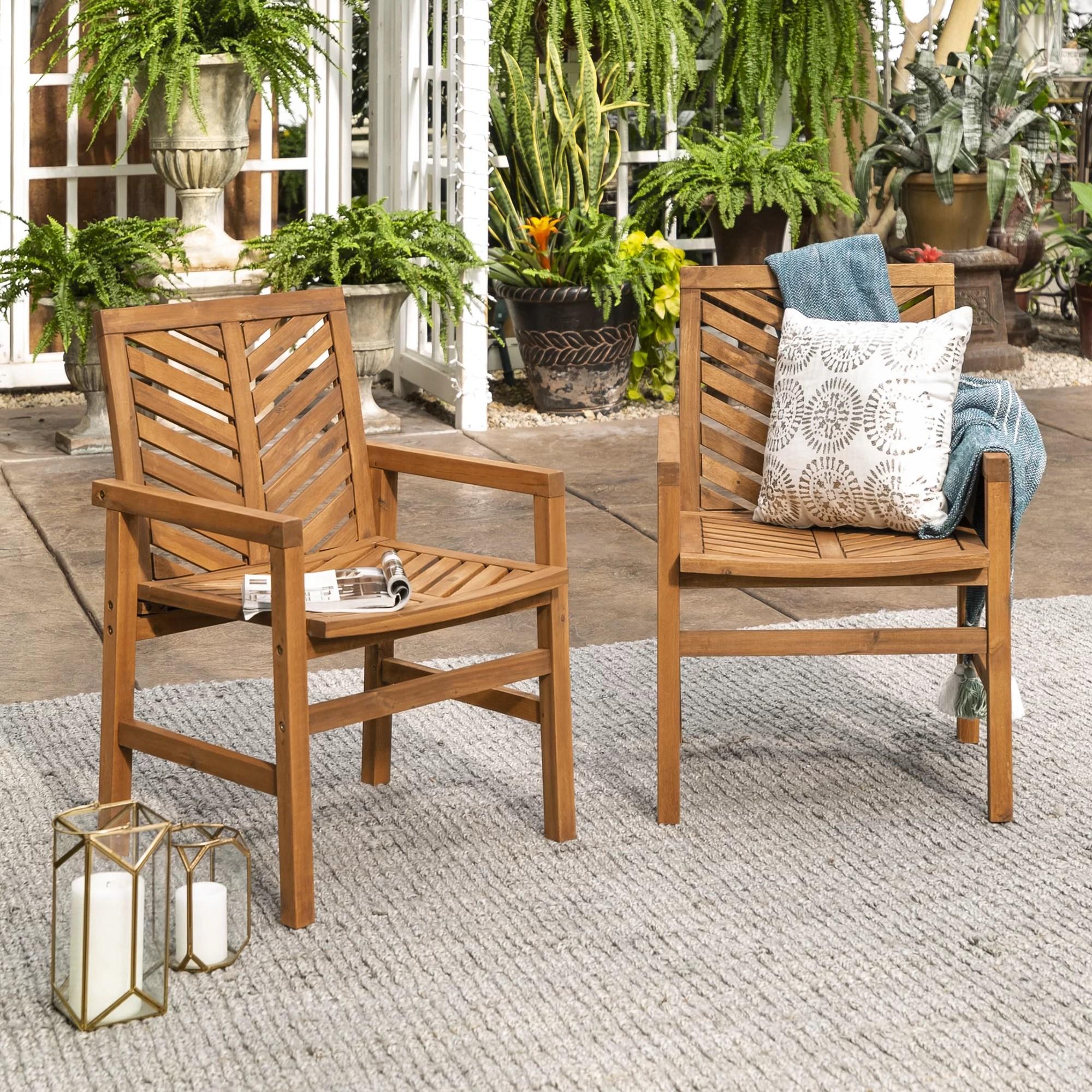diboll acacia patio dining armchair