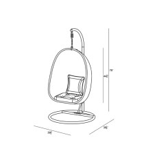 Swing Chair Drawing Captains Exercise Harmonia Living Nimbus With Stand Wayfair