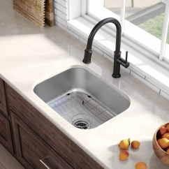 Stainless Steel Undermount Kitchen Sinks Wall Tile Kraus 23 L X 18 W Sink With Drain Assembly