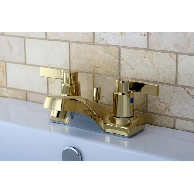 nuvofusion centerset bathroom faucet with pop up drain