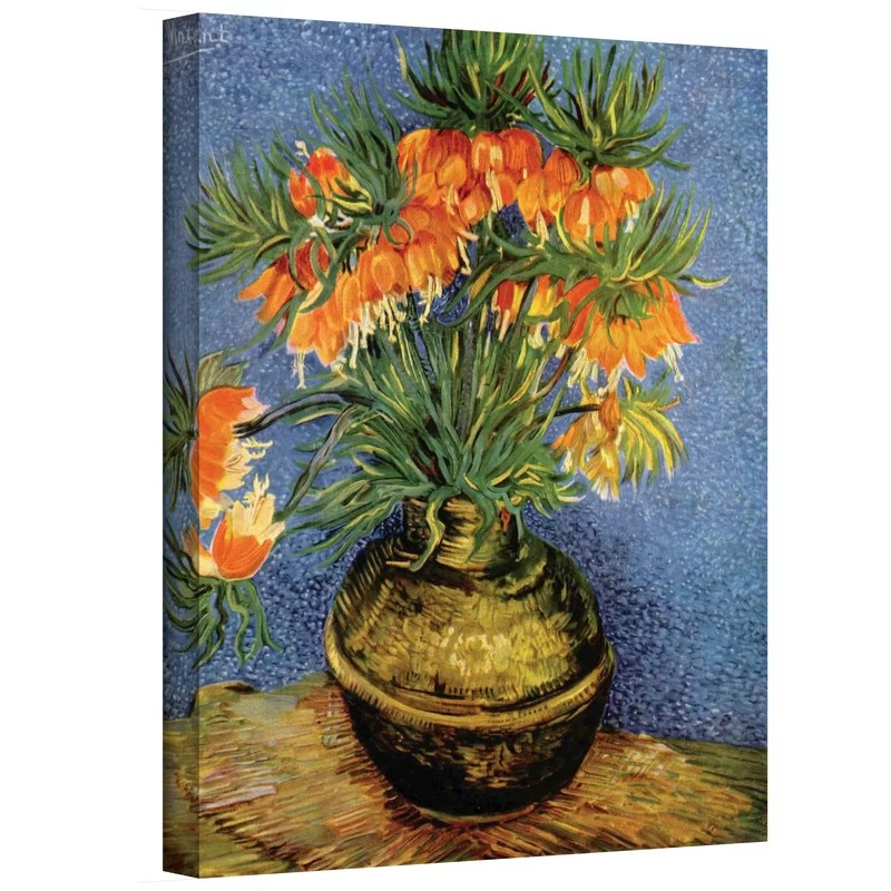 Fritillaries by Vincent Van Gogh Painting Print on Canvas Size: 32 H x 24 W